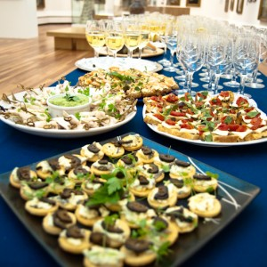 A spread of canapés at York Art Gallery (Photo Courtesy of Red Jester)
