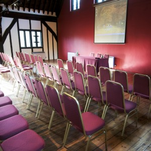Conference setting at the Hospitium